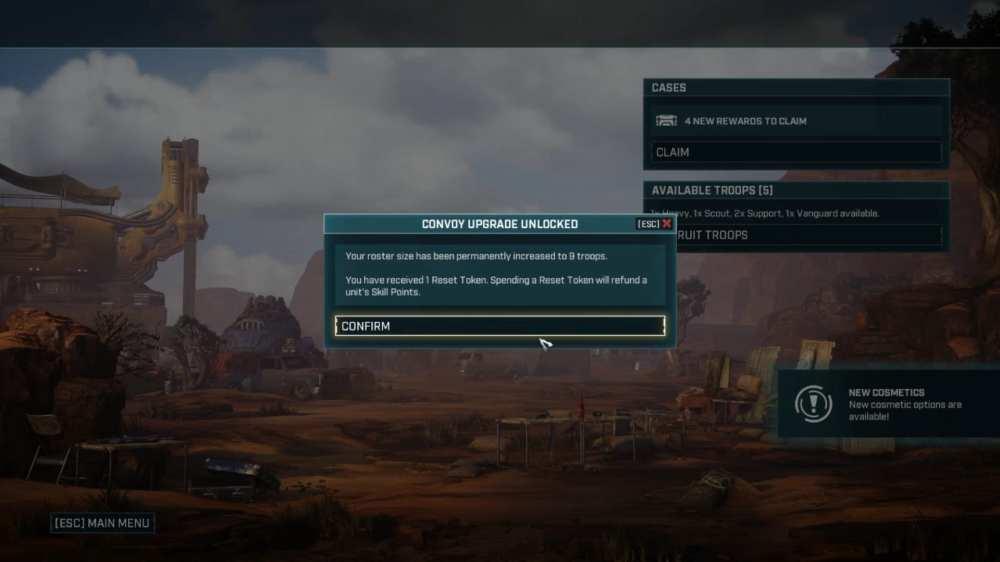 reset tokens in Gears Tactics