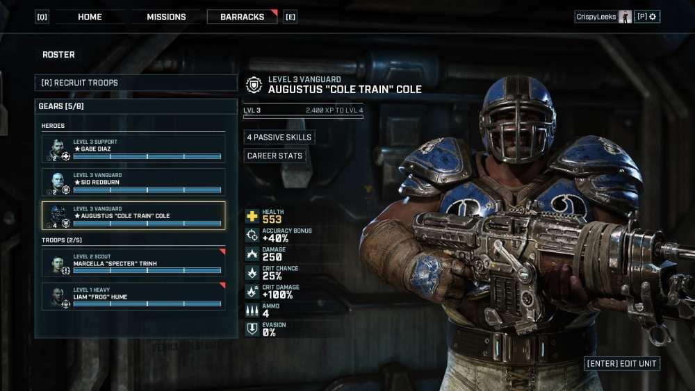 Thrashball Cole in Gears Tactics
