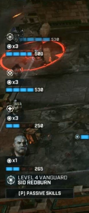 Injured Status in Gears Tactics