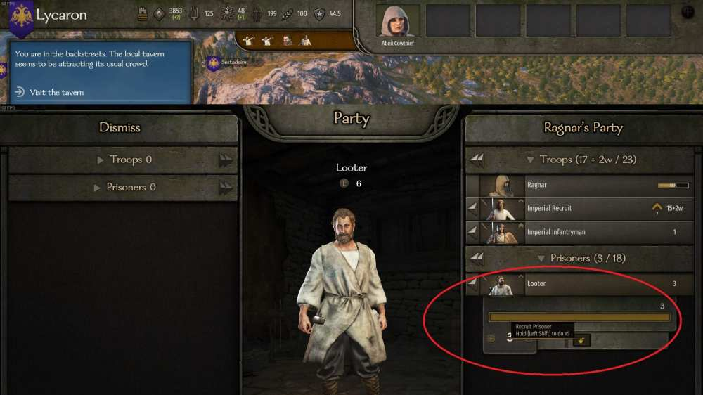 How to Recruit Prisoners in Mount & Blade 2 Bannerlord