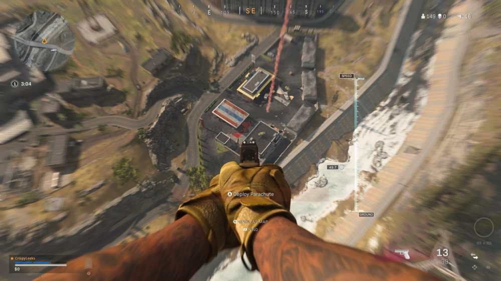 how to shoot while in the air in cod warzone