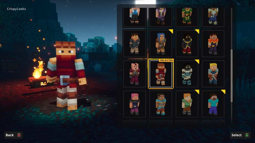 change character appearance in minecraft dungeons