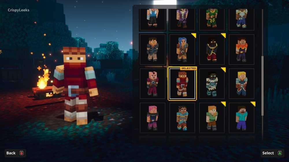 Ändere das Aussehen des Charakters in Minecraft-Dungeons
