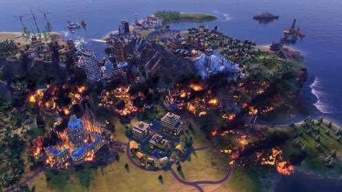 Civilization VI - New Frontier Pass - Maya & Gran Colombia Pack - Apocalypse Mode Forest Fire