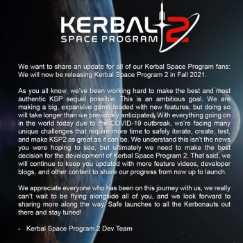Kerbal Space Program 2 Delayed
