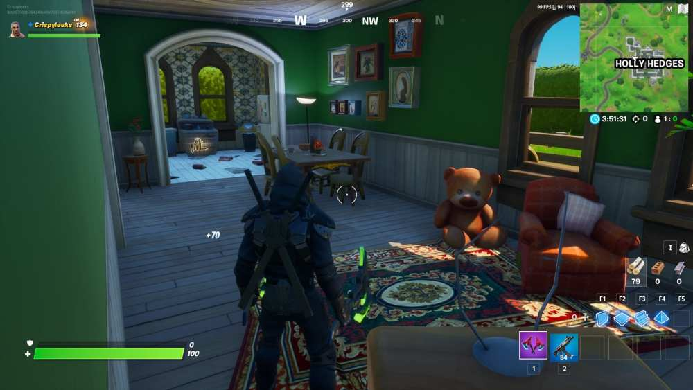 fortnite holly hedges teddy bear locations