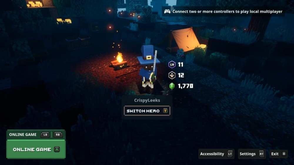 co-op in minecraft dungeons