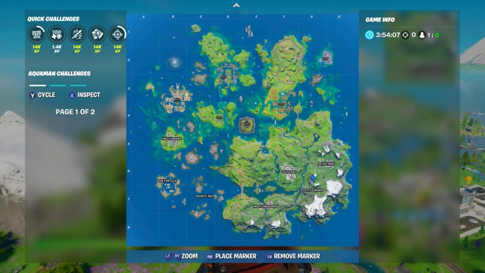 fortnite catty corner location