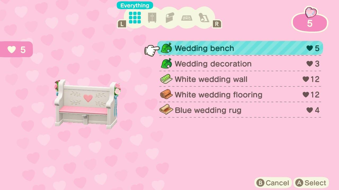 Animal Crossing: New Horizons Wedding Season guide