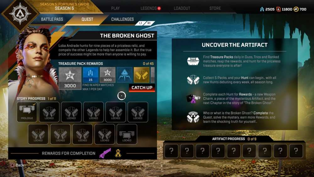 Apex Legends Missed Hunts
