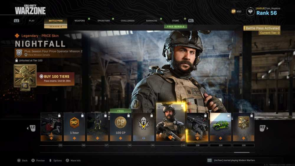 modern warfare, level up battle pass fast