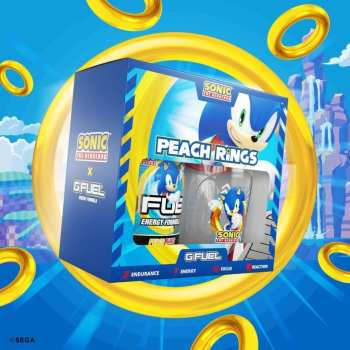 Sonic the Hedgehog, G Fuel, Peach Rings bebida energética