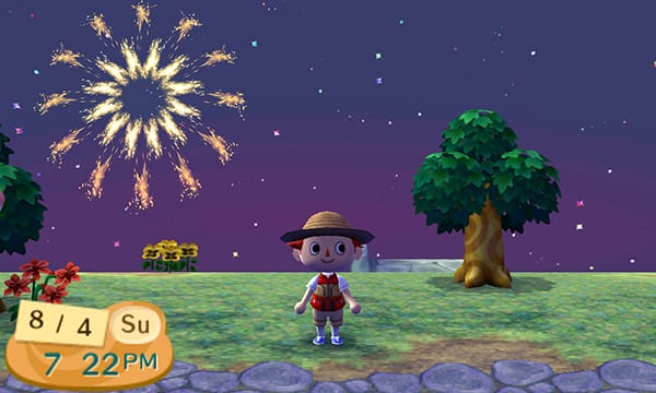 new leaf, fireworks, animal crossing