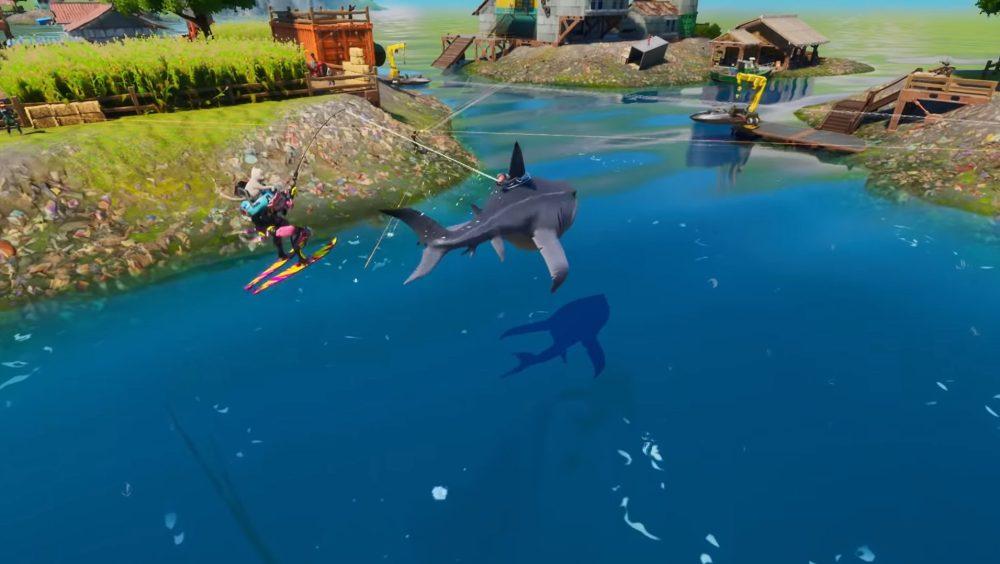 riding sharks in fortnite