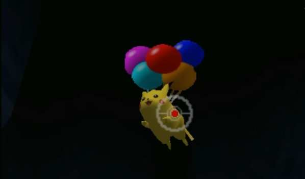 pikachu with balloons