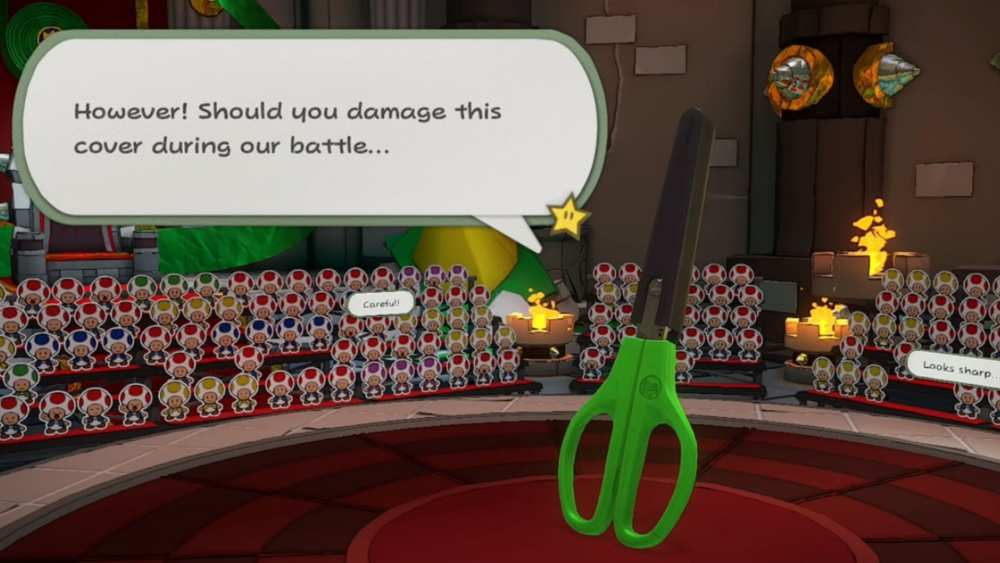 Paper Mario Origami King Scissors Boss Battle