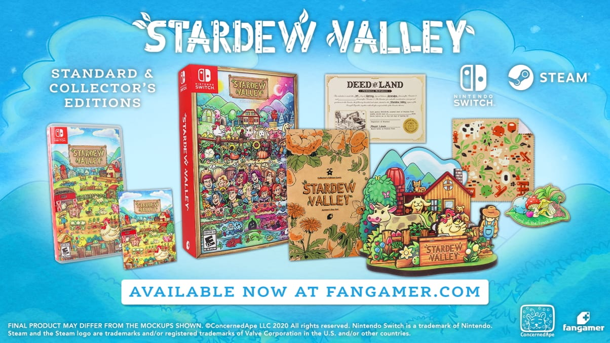 Stardew Valley Will get Bodily Version and Collector's Version for PC and Swap 1