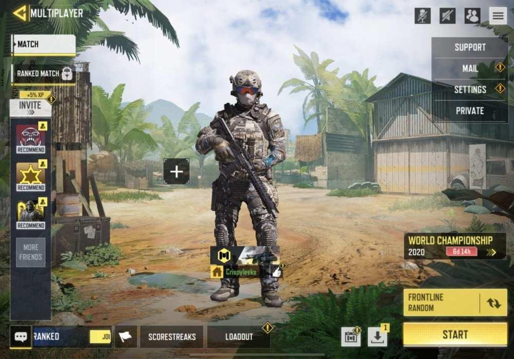 1v1 private match cod mobile