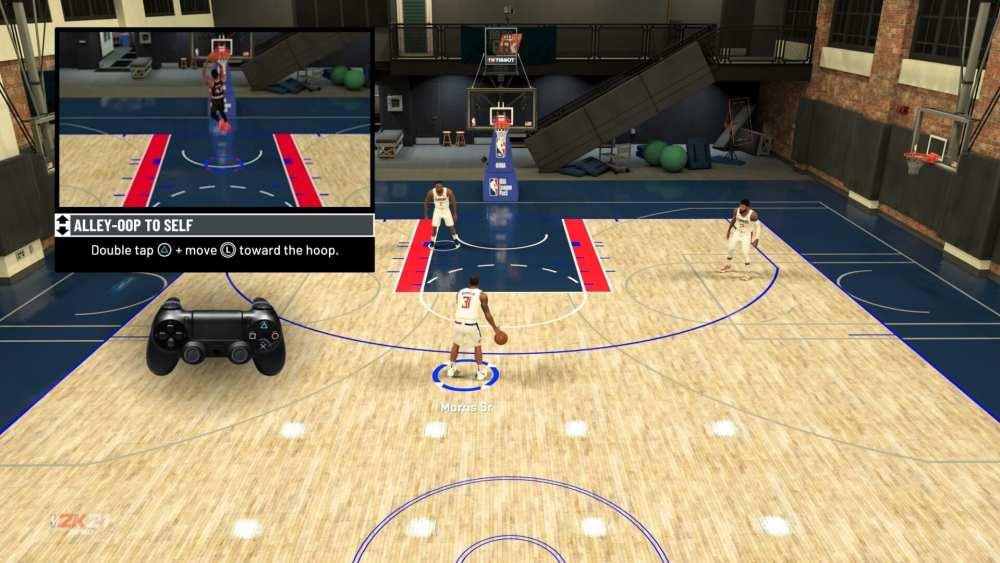 NBA 2K21 alley oop