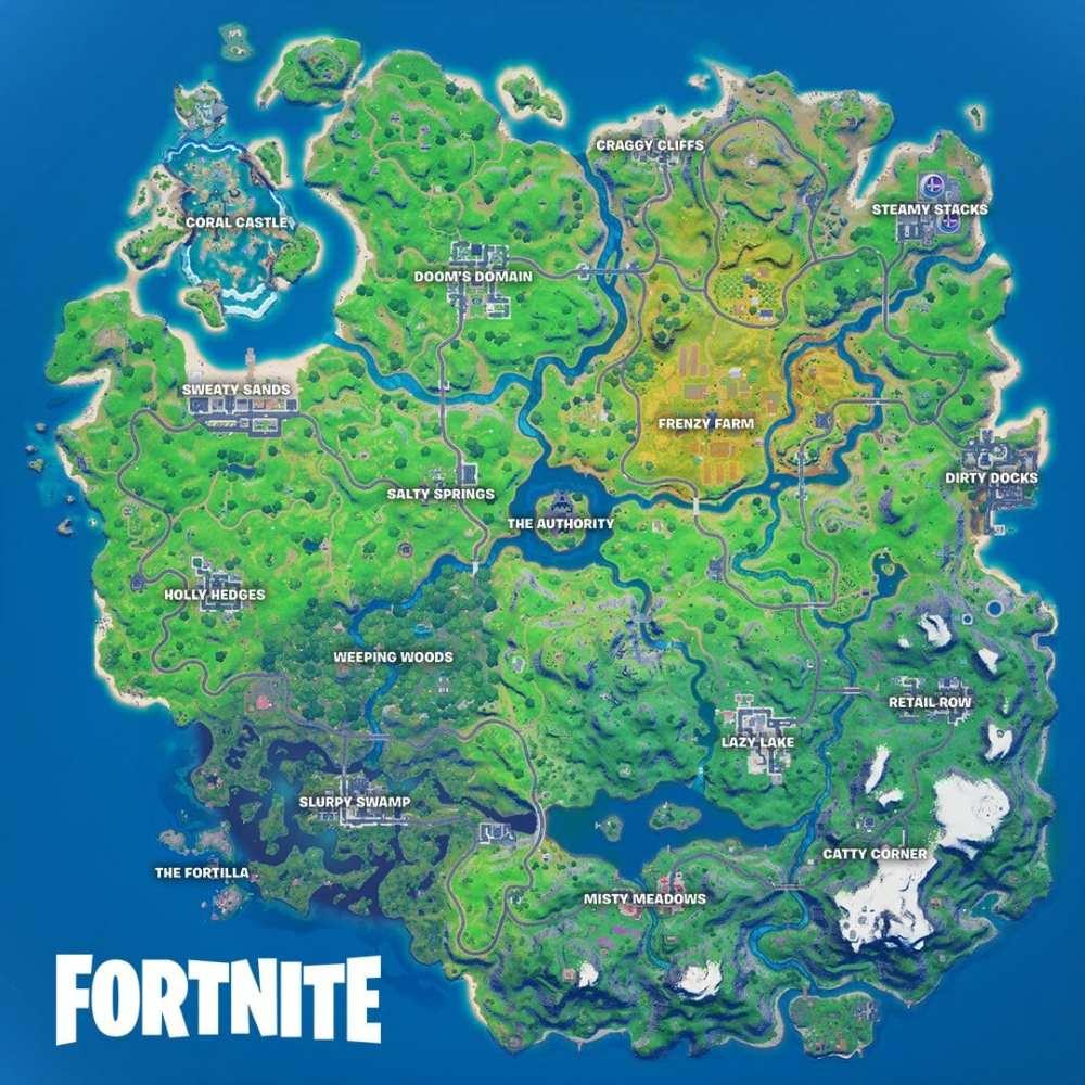 fortnite chapter 2 season 4 map