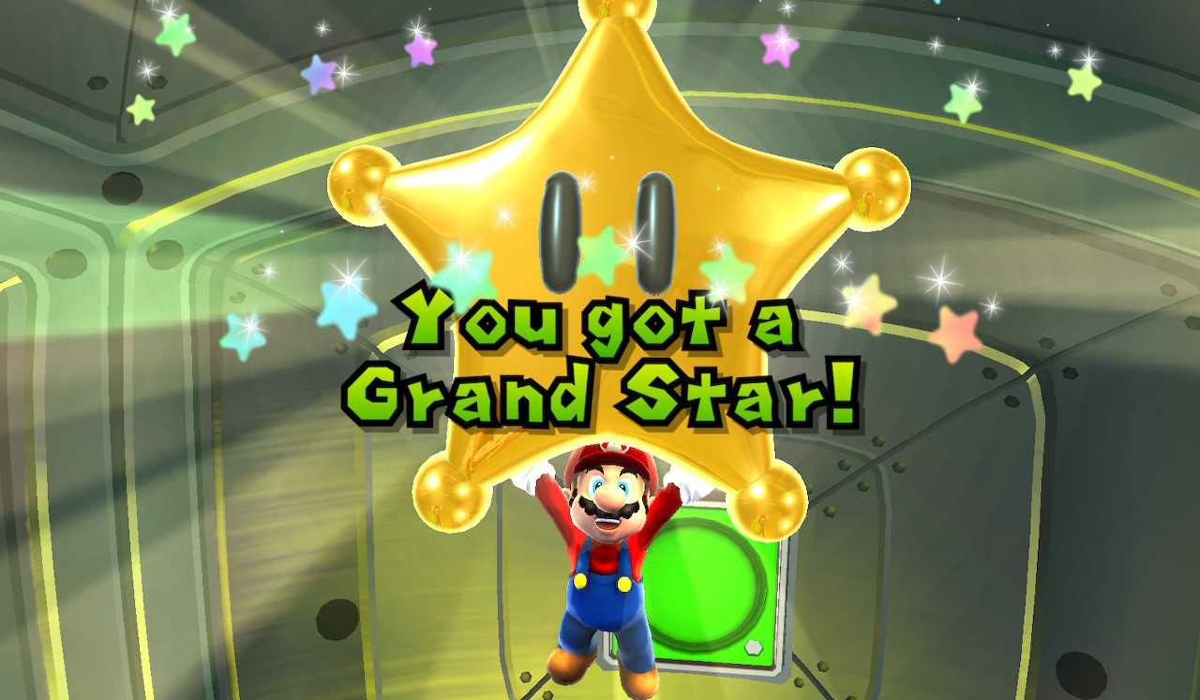 super mario galaxy, grand star
