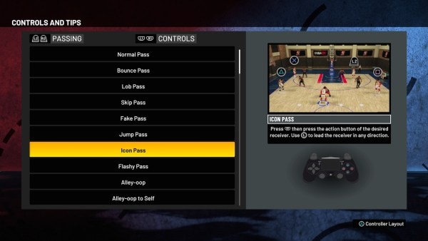 NBA 2K21 advanced passes