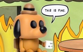 this is fine dog funko pop figure