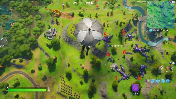 launch off all sentinel hands in fortnite, wolverine week 4 challenge