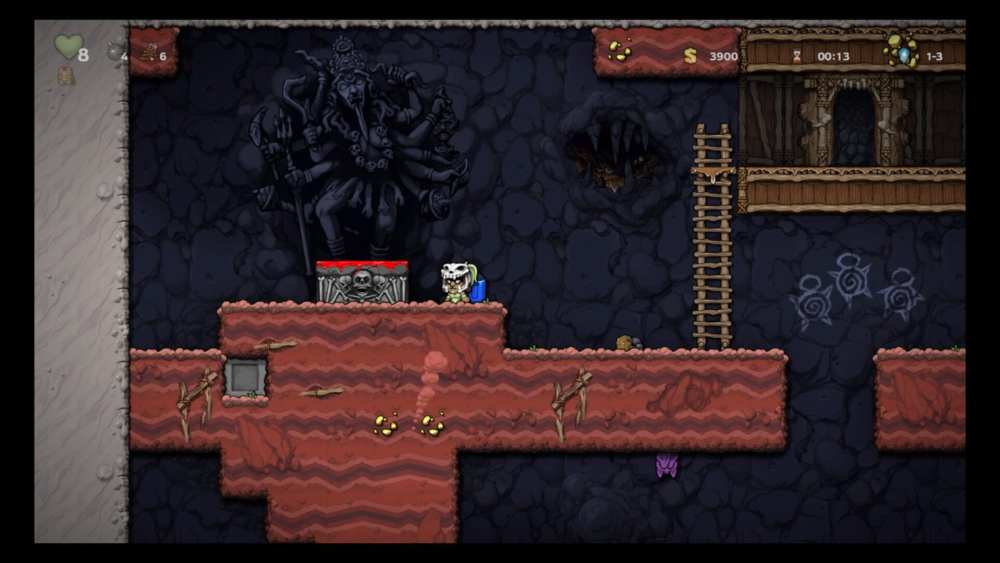 Spelunky 2, How to Use Kali's Sacrificial Altars and What They Do,