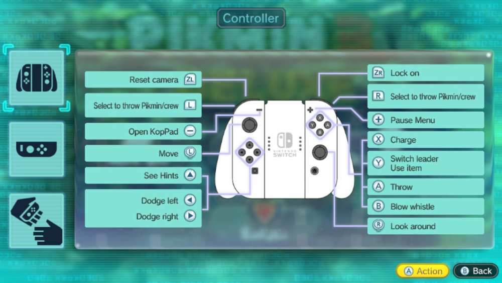 Controls Guide for Pikmin 3 Deluxe