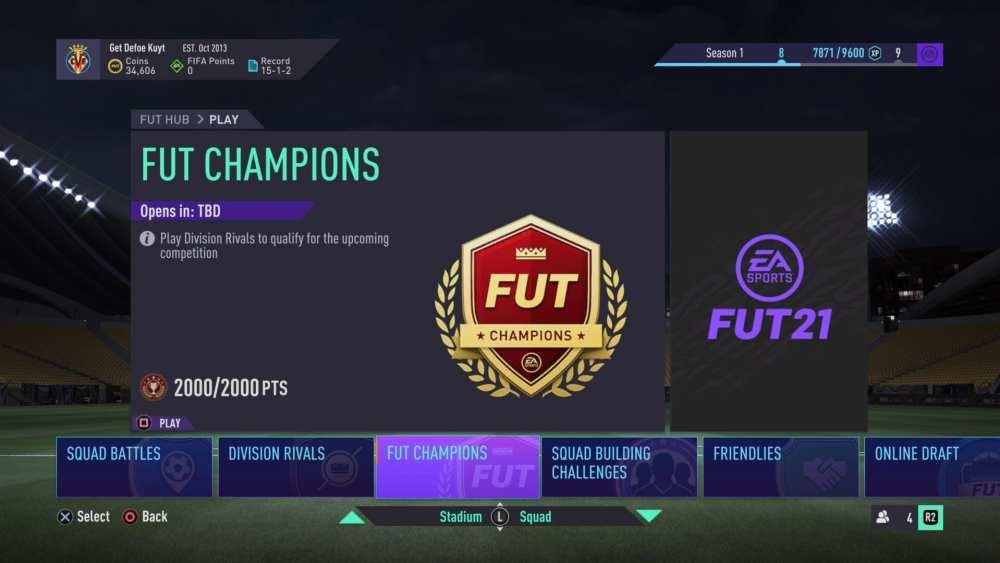 fifa 21, fut champions qualification points