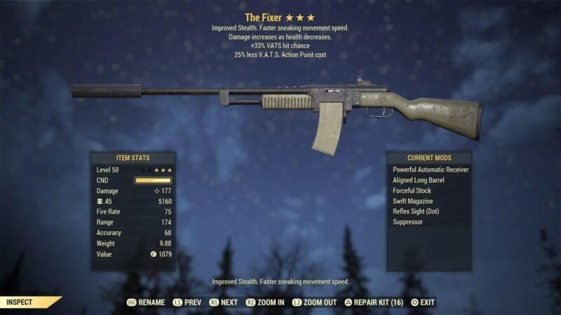 Fallout 76 el reparador