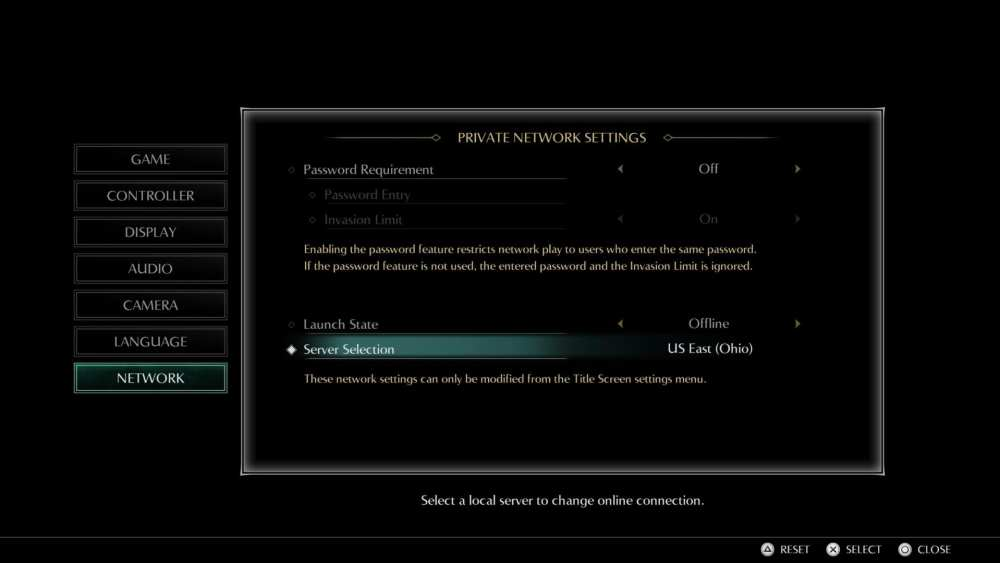 demon's souls change servers
