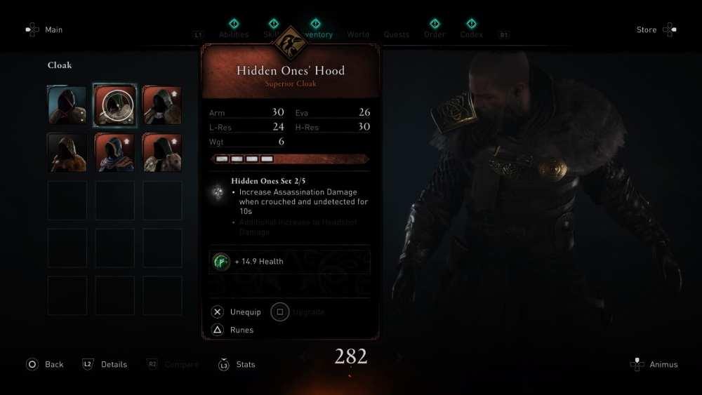 hidden ones' armor locations