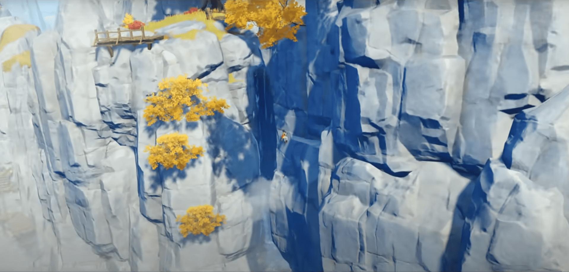 Genshin impact relaxing mountain climbing