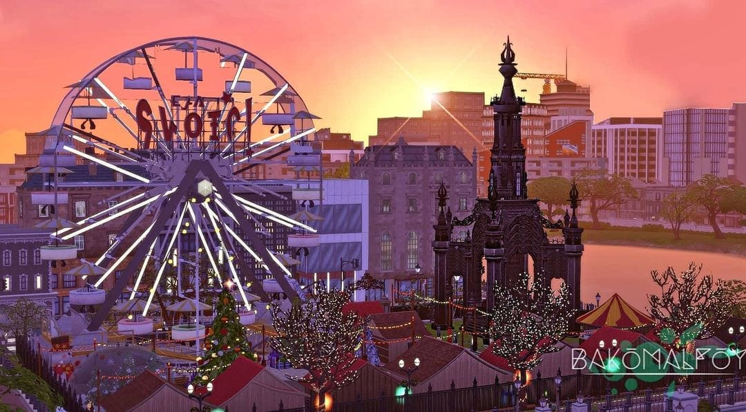 Scottish Simmer Recreates Edinburgh Christmas Market In The Sims 4 1