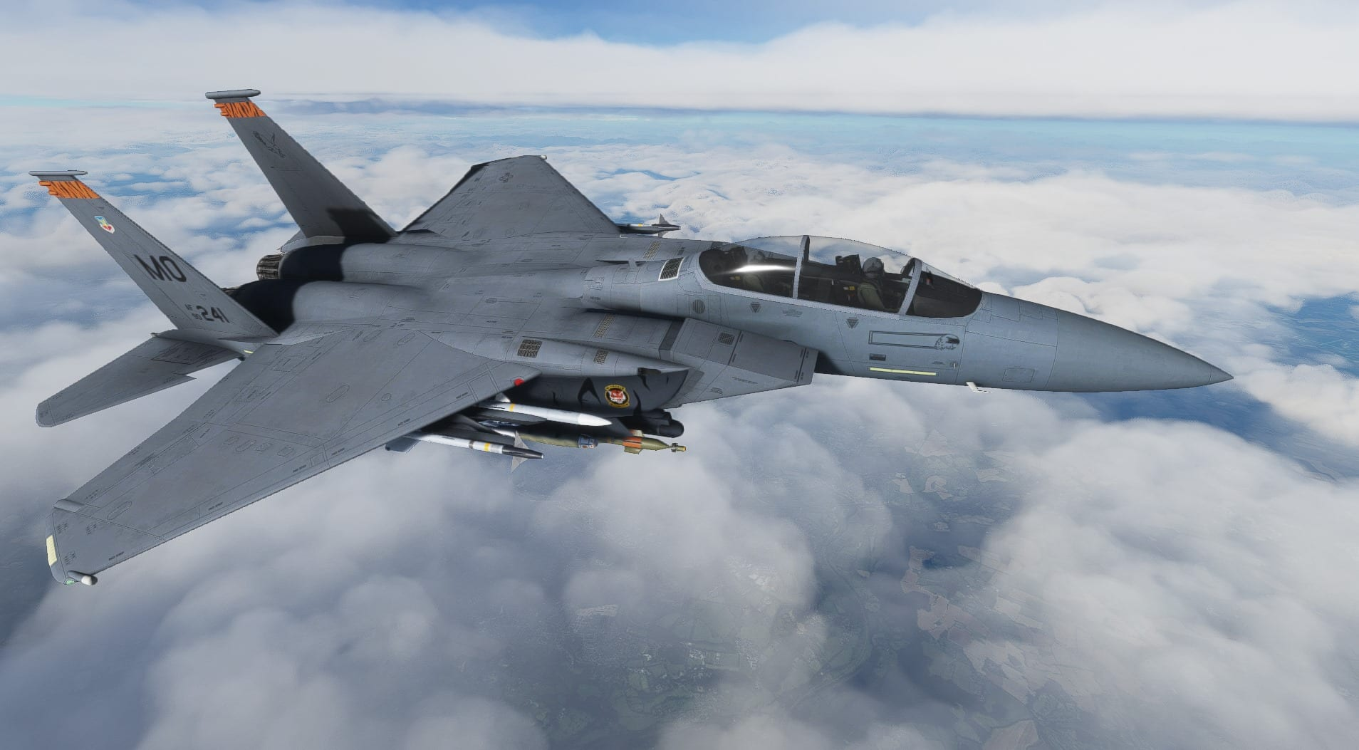 Microsoft Flight Simulator F-15 Add-On Recovers From Terrifying Spin in New Video 1