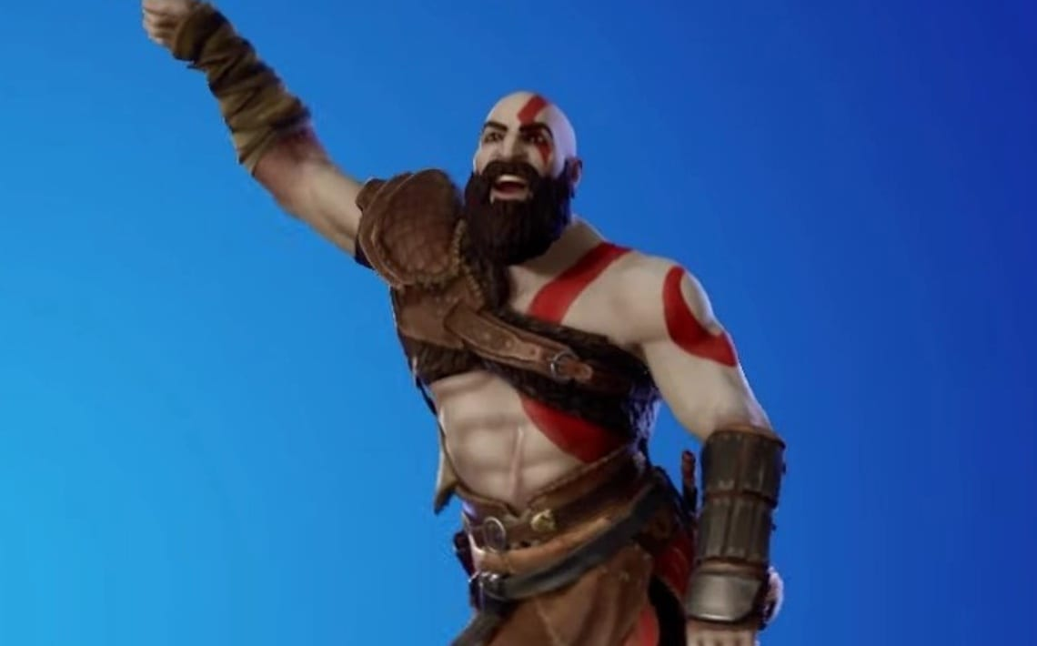 Y'all, Kratos Can Break It Down in Fortnite 1