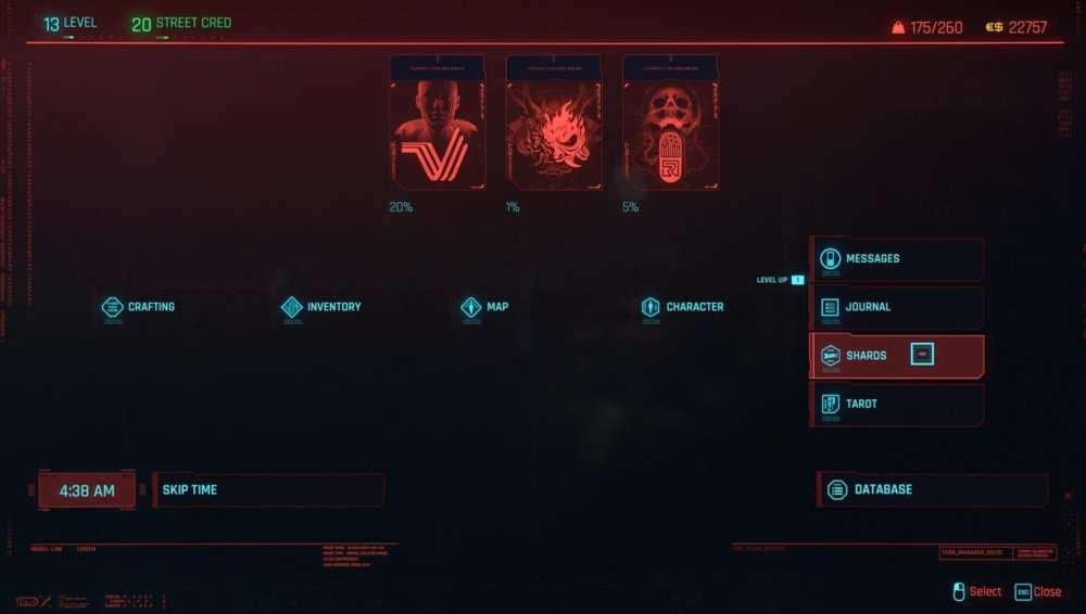 cyberpunk 2077 read shards