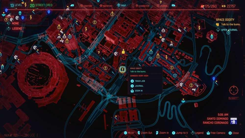 cyberpunk 2077 space oddity