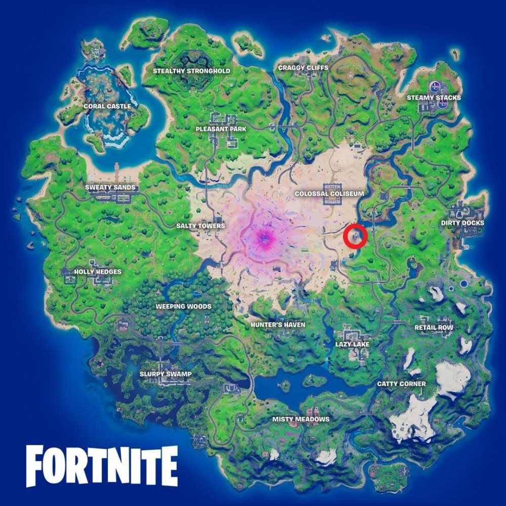 fortnite razor crest map location