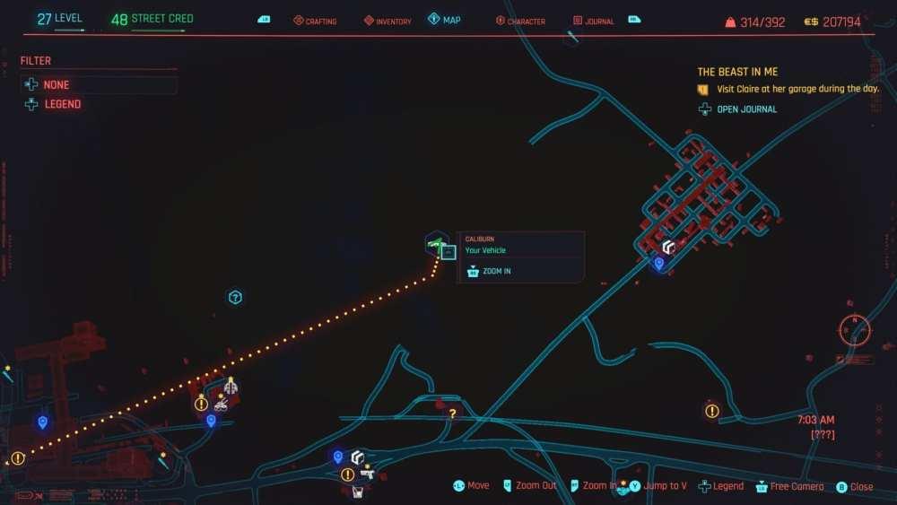 cyberpunk 2077 batmobile location
