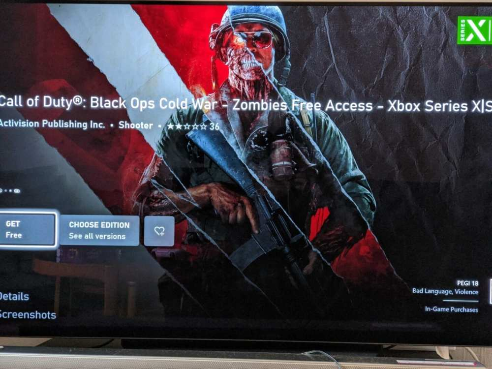 Black Ops Cold War  Descargar Zombies Free Access en Xbox