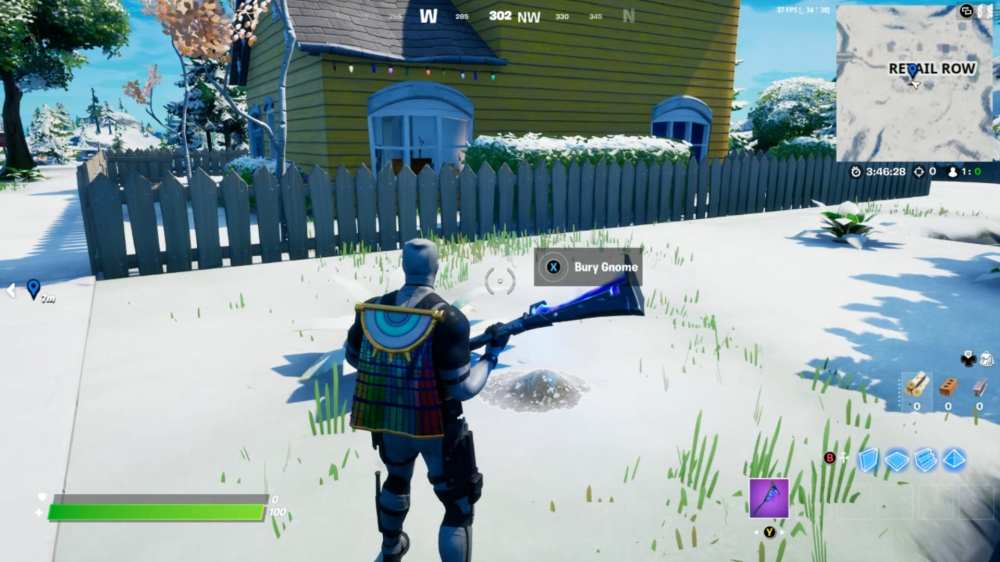 where to bury gnomes in retail row in fortnite