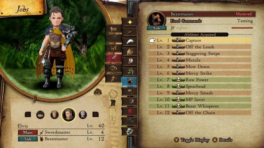 bravely default 2 change character appearance