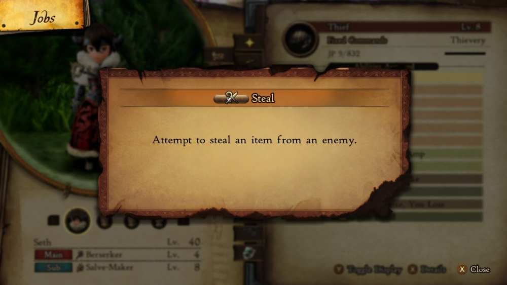bravely default 2 steal items