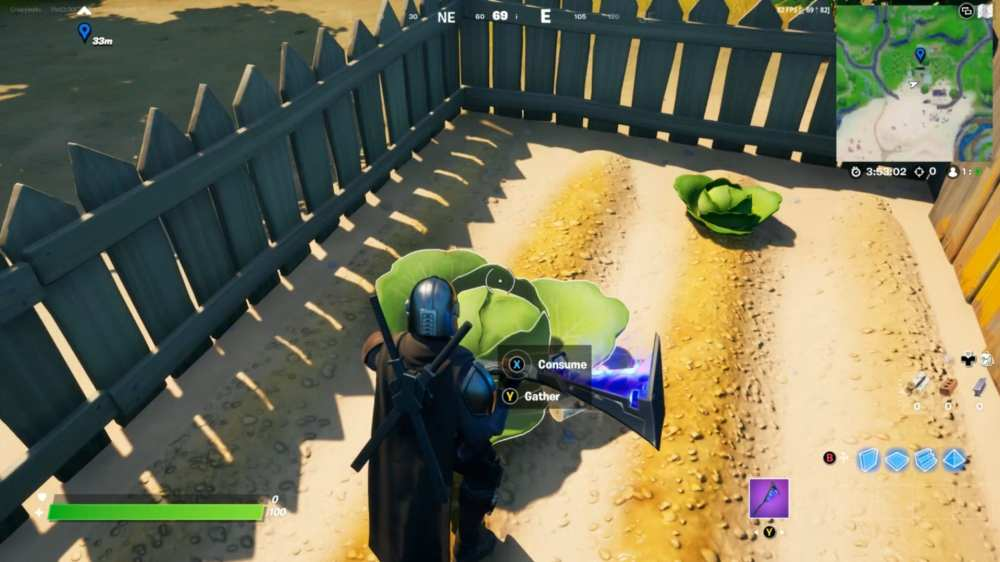 harvest vegetables in fortnite
