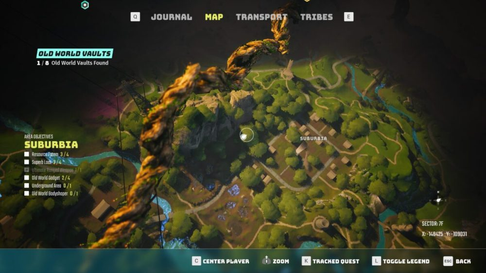 where to use suburbia vault key in biomutant