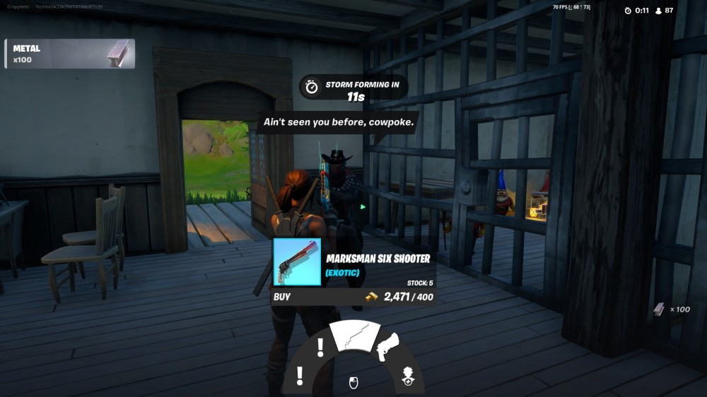 spend gold bars with deadfire in fortnite