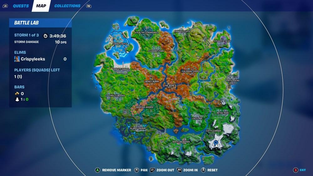 fortnite tallest mountain location